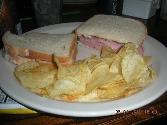 Rainbow Cafe: ham sandwich, easy and right