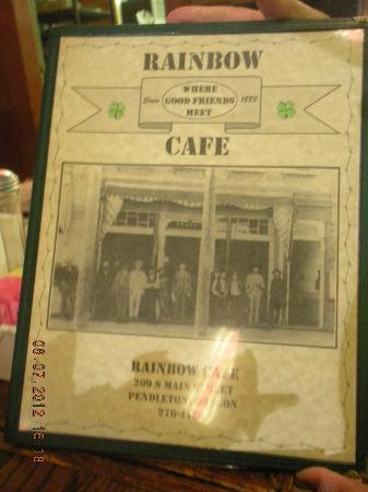 Rainbow Cafe: Menu