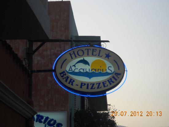 Acquarius Hotel: Buona pizza!