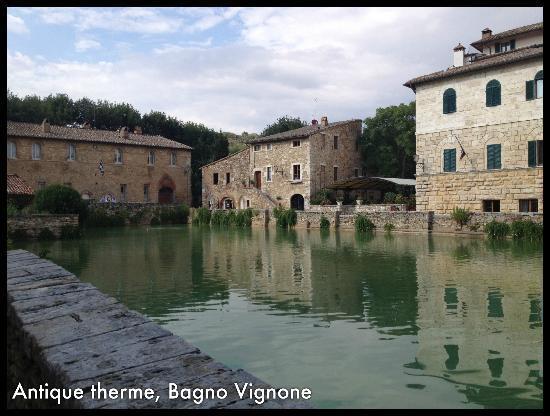 Bagno Vignoni with the antique therme - Picture of Locanda del ...