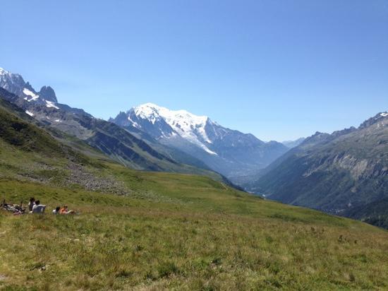 Mont Blanc: スイス国境方面から見たモンブラン