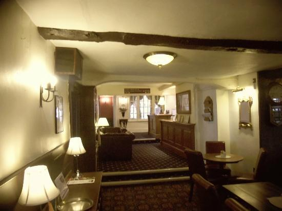 The Bear Hotel Market Place: with back to the bar looking at reception at top right