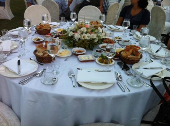Karakol Restaurant table set up for business dinner & table set up for business dinner - Picture of Karakol Restaurant ...