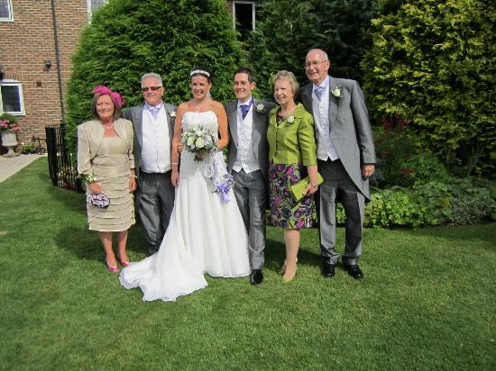 Little Silver Country Hotel : With both sets of parents in garden