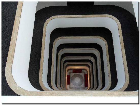 Designer Hotel Im Treppenhaus Der Blick Nach Oben Picture Of