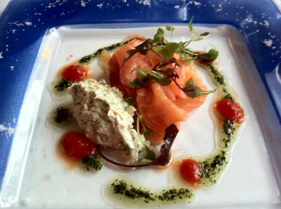 Lamplighter: Smoked salmon with fennel velouté -- totally outstanding combination