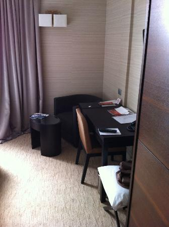Hotel Residence: A writing table and closet