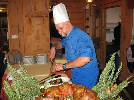 Hotel Chalet Alaska: Lo chef