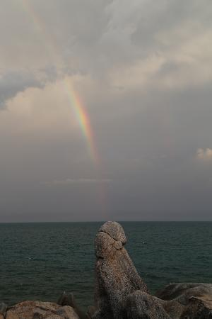 Lamai Beach, Thailand: After-rain shot... Quite suggestive, but thought it would be a funny shot...