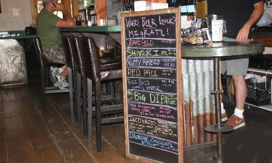 Salmon River Brewery : Whats on draft July 22, 2012. This varies.