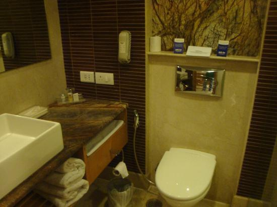 Park Inn Jaipur, A Sarovar Hotel: Well appointed but small bathroom