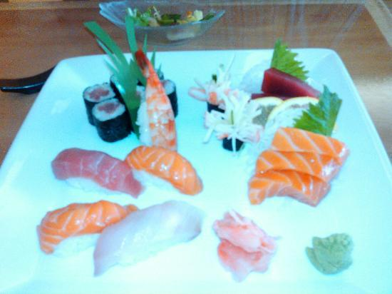 Lexington, MA: A chef's selection of sushi and sashimi. Very good.