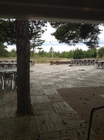 Tofta Strandpensionat : view from restaurant