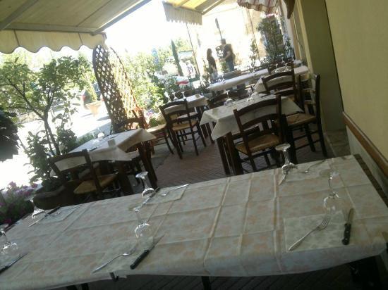 La Mensa del Conte: tavoli all'esterno