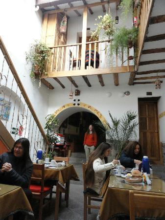 Hostal El Grial: From the breakfast room toward the entrance