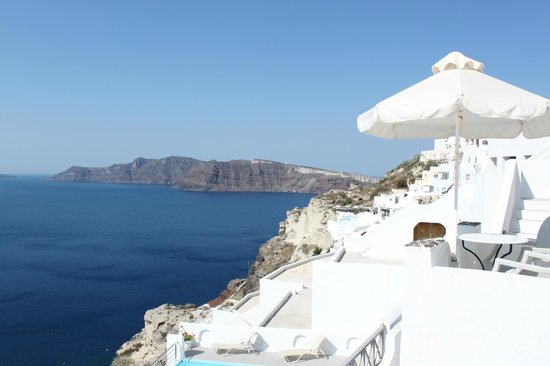 Filotera Suites: Vue de la terrasse de la villa