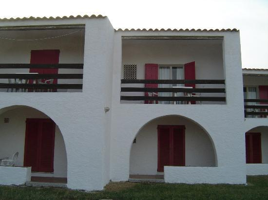 Hotel Mirage : balcone del bungalow