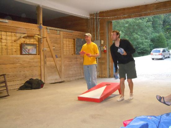 Rawhide Ranch: Corn Hole in the barn...