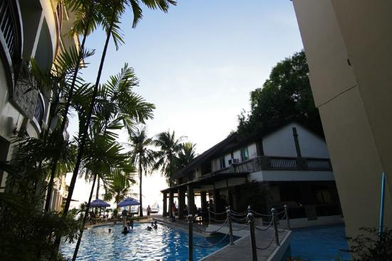 Boracay Ocean Club Beach Resort: 飯店一樓拍出去