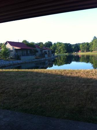 Santa's Lakeside Cottages: View from patio of #7 (looking at #1-5)