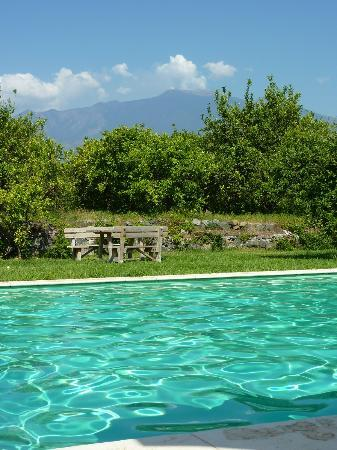 Agriturismo Galea: piscina limoneto etna
