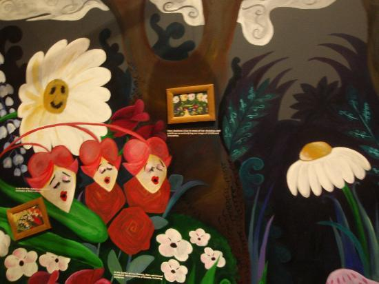 Oklahoma History Center: Disney's Alice in Wonderland concept art drawn by Mary Blair from McAlester, OK