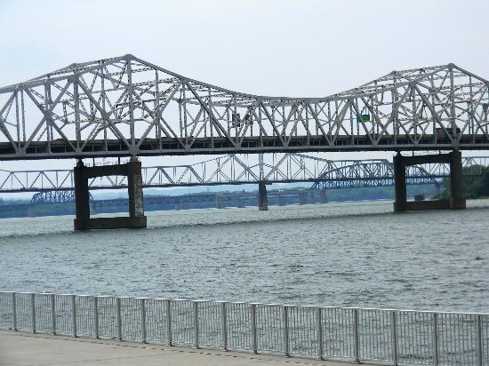 Louisville Waterfront Park : All the Louisville bridges over the Ohio River!