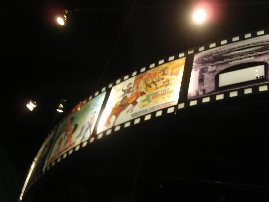 Oklahoma History Center: movie reel hanging from ceiling