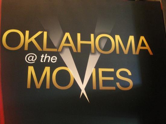 Oklahoma History Center: Sign for Oklahoma @ the Movies