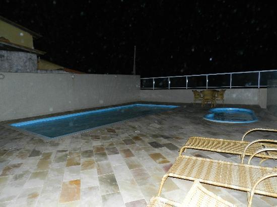 Ocean View Hotel: pool at nitgh