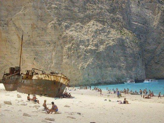 Playa Navagio: Rock