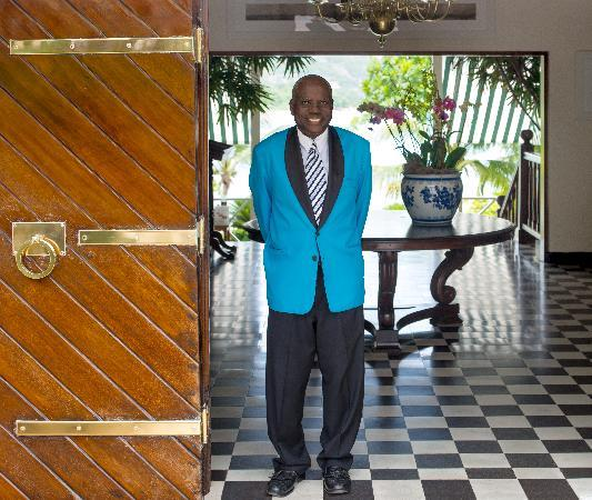 Round Hill Hotel & Villas: Our Chief Concierge, Kingsley