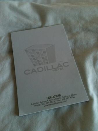 Cadillac Hotel: papelería