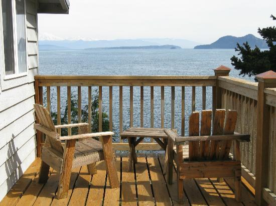 Orcas Island Bayside Cottages: View from deck