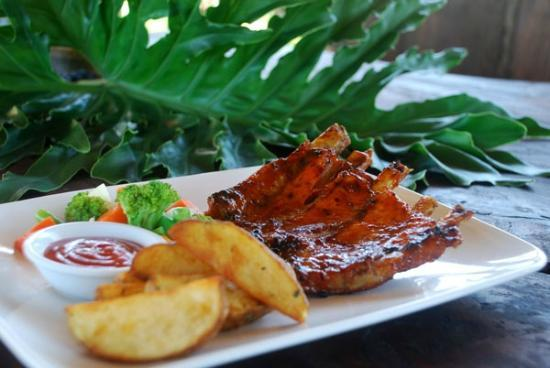 Don Biyu grill pork rid huney sauce