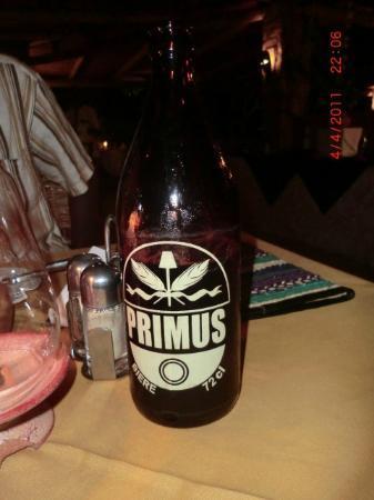 Hotel Botanika : Local beer