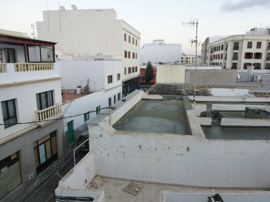 Cardona Pension: View from room - unfortunately it isn't a sea