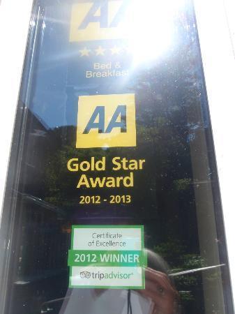 St Cuthbert's of Lyme: AA 4 Gold Star Award