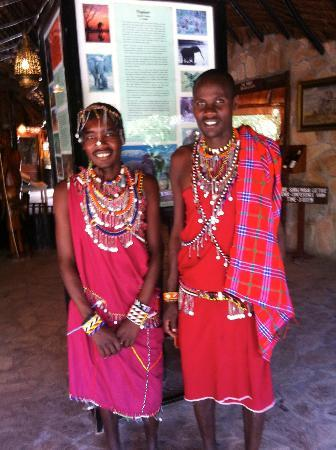 Fig Tree Camp: Maasai workers at the hotel