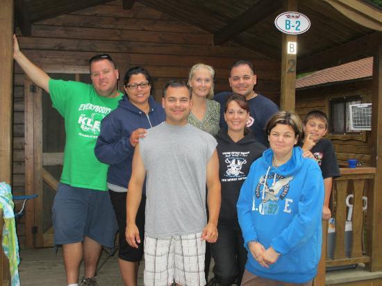 Ponderosa Campground : Cabin porch