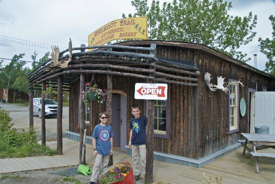 Chilkoot Trail Authentic Sourdough Bakery: The Bakery and my grandkids