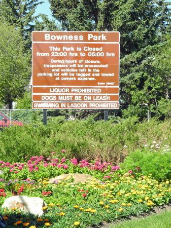 Bowness Park entrance sign
