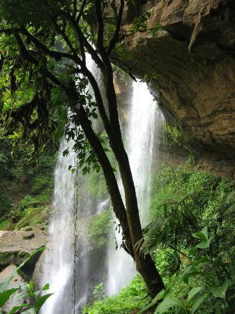 Pacific Journeys : Falls from the cave.