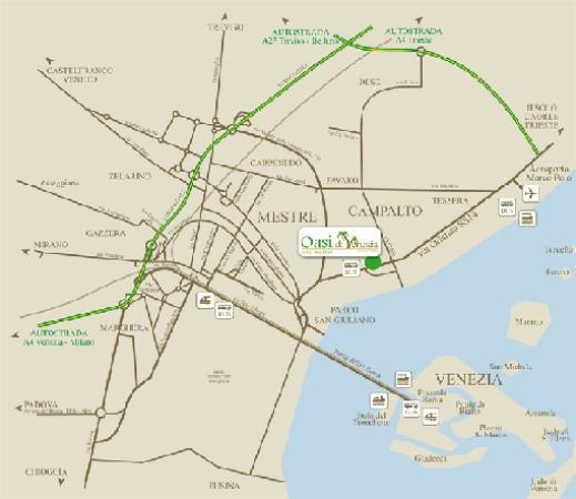 B&B Oasi di Venezia: Mappa