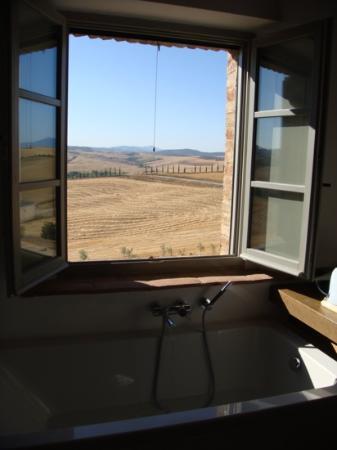 Podere Ferranesi: badkamer met super zicht