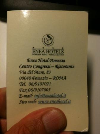 Enea Hotel: Chiave magnetica