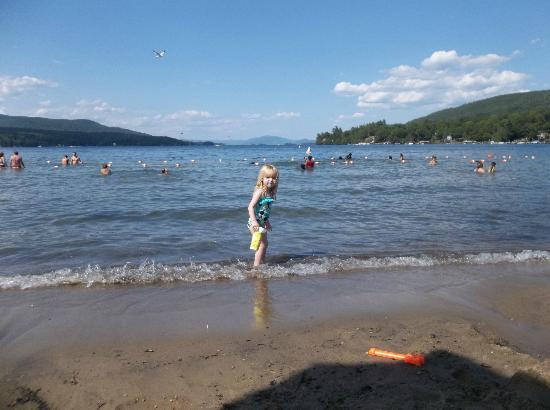 Million Dollar Beach: Enjoying the beautiful water