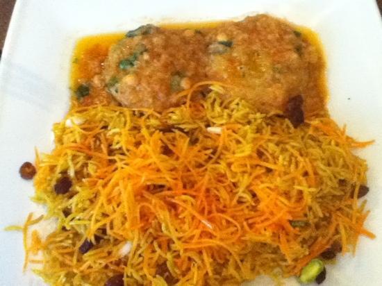 Afghan Cafe : Kofta (basmati and vitello)