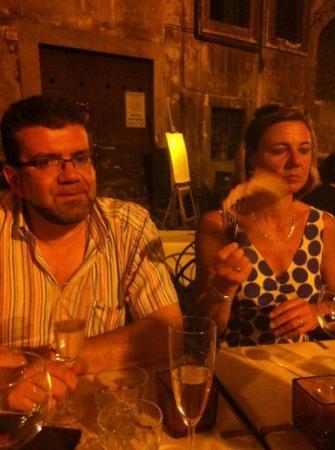 Osteria del Gallo: Roman nacht in augustus 2012