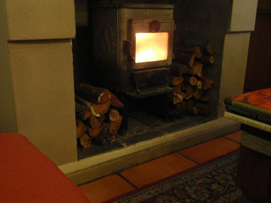 Gooding's Groves Olive Farm & Guest House: Log Fire